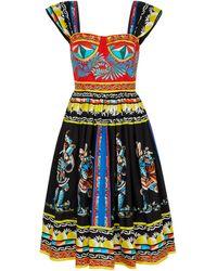Dolce & Gabbana Vestido midi algodón estampado - Multicolor