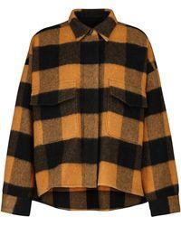 MM6 by Maison Martin Margiela Checked Wool-blend Shirt Jacket - Black