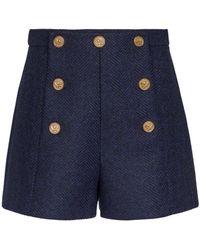 RED Valentino Shorts aus Schurwolle - Blau