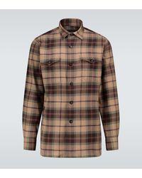 Lardini Camisa de algodón a cuadros - Neutro