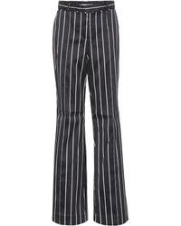 Zimmermann - Striped Cotton-blend Trousers - Lyst