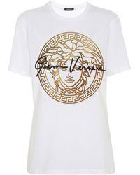 Versace T-Shirt GV Signature Medusa - Weiß