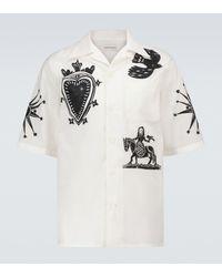 Alexander McQueen Camisa de manga corta estampada - Blanco
