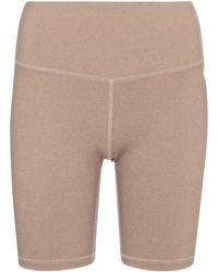 Tory Sport Stretch-jersey Biker Shorts - Natural