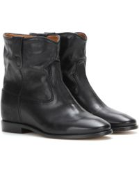 Isabel Marant Toile Cluster Leather Boots - Black
