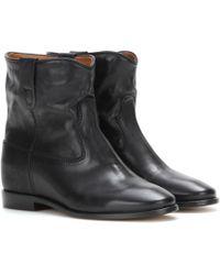 Isabel Marant Cluster Ankle Boots Calf Leather Black - Schwarz
