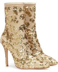 Gianvito Rossi Exclusive To Mytheresa – Daze Sequined Ankle Boots - Multicolor