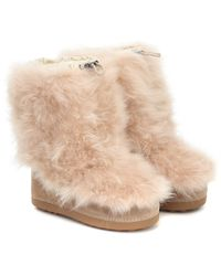 Bogner Tignes Cashmere And Suede Snow Boots - Natural