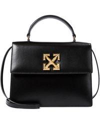 Off-White c/o Virgil Abloh Jitney 2.8 Leather Shoulder Bag - Black