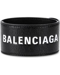 Balenciaga - Leather Bracelet - Lyst