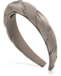 Sophie Buhai Classic Twisted Silk Headband - Grey