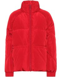Ganni Down Puffer Jacket - Red