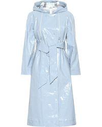 ALEXACHUNG Cotton-blend Trench Coat - Blue