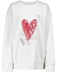 MM6 by Maison Martin Margiela Printed Cotton Sweatshirt - White