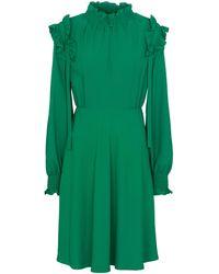 Tod's Vestido corto con volantes - Verde