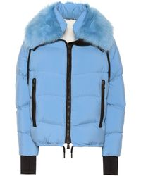 3 MONCLER GRENOBLE Plaret Fur-trimmed Down Jacket - Blue