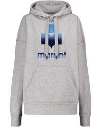Étoile Isabel Marant Mansel Logo Cotton-blend Hoodie - Grey
