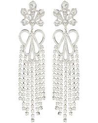 Paco Rabanne Crystal-embellished Clip-on Earrings - Metallic