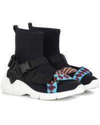Prada - Neoprene High-top Sneakers - Lyst