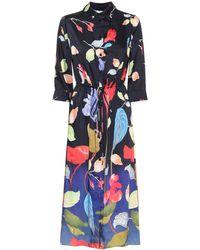 Peter Pilotto Floral Twill Shirt Dress - Black