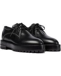 Alaïa Studded Leather Derby Shoes - Black