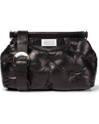 Maison Margiela Glam Slam Medium Leather Shoulder Bag - Black