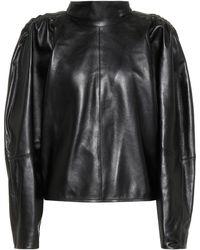 Isabel Marant Top Caby en cuir - Noir