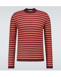 Marni Jersey de cachemir y lana a rayas - Rojo