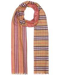 dd3aff41bf Sciarpa a quadri in lana e seta - Multicolore