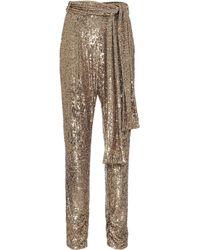 Dundas Pantaloni con pailettes - Metallizzato