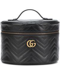 Gucci Trousse à maquillage GG Marmont petite taille - Noir