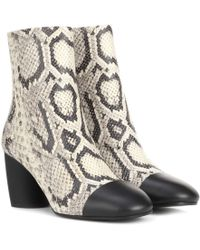 Proenza Schouler - Printed Leather Ankle Boots - Lyst