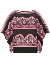 Valentino - Knitted Acquard Top - Lyst