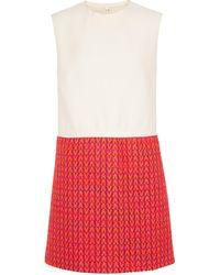 Valentino Robe en tweed de laine mélangée - Rouge