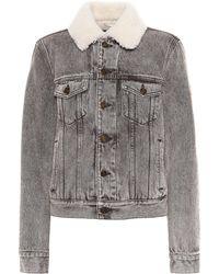 Saint Laurent   Shearling-lined Denim Jacket   Lyst