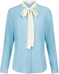 RED Valentino Silk Crêpe-de-chine Shirt - Blue