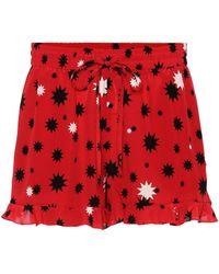 RED Valentino Shorts aus Seide - Rot