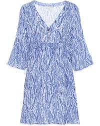 Heidi Klein Amoudi Bay Tie Side Cotton Cover-up - Blue