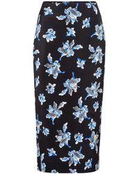 Diane von Furstenberg Falda tubo Kara de cady floral - Azul
