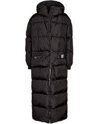 Prada Manteau doudoune matelassé - Noir