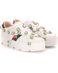Gucci Sneakers New Ace aus Leder - Mehrfarbig