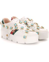 Gucci New Ace Leather Sneakers - Multicolour
