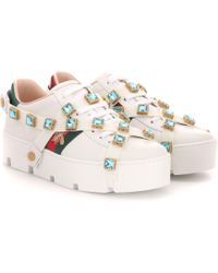 Gucci - Sneakers New Ace aus Leder - Lyst