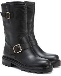 Jimmy Choo Biker Ii Leather Boots - Black
