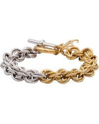 JW Anderson Bracelet en plaqué or - Métallisé