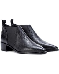 Acne Studios - Jenny Leather Ankle Boots - Lyst