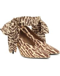 Zimmermann Stretch-jersey And Crepe De Chine Court Shoes Animal Print - Multicolour