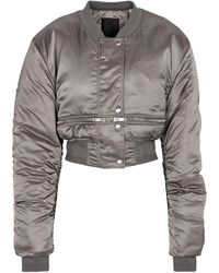Givenchy Cropped-Bomberjacke aus Nylon - Grau