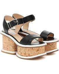 Gabriela Hearst Harrigan Leather And Cork Sandals - Black