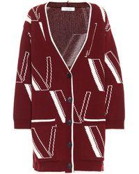 Valentino Cardigan aus Wolle und Kaschmir - Rot